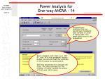 power analysis for one way anova 14