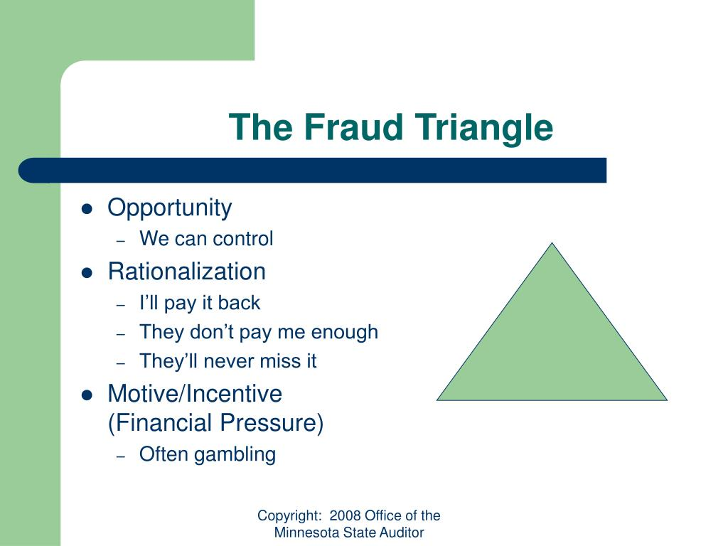 sunbeam fraud triangle