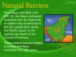 natural barriers