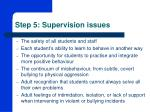step 5 supervision issues