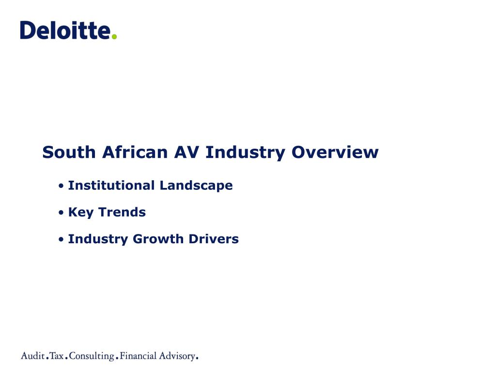 south african av industry overview l.