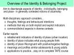 overview of the identity belonging project