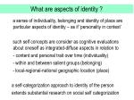 what are aspects of identity