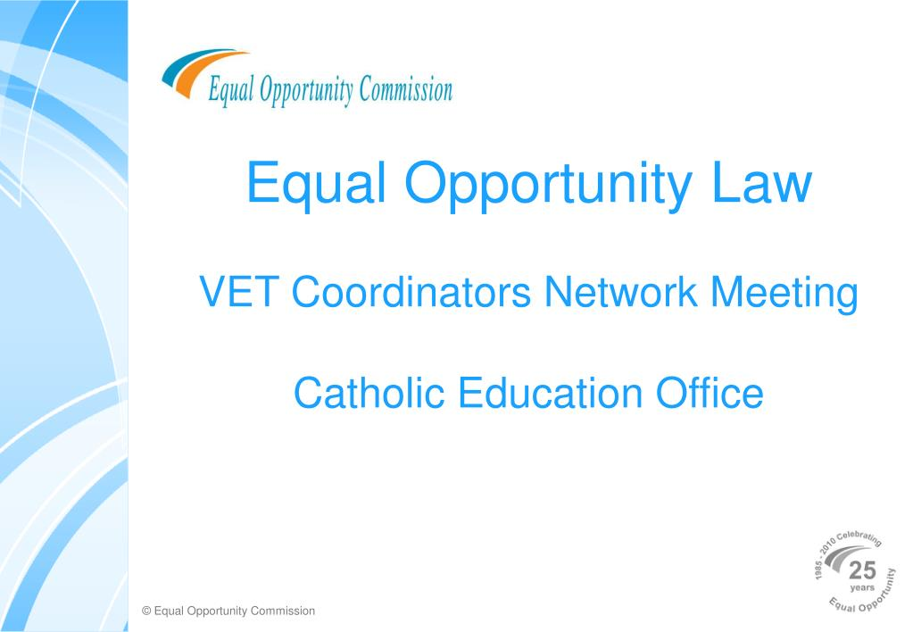 equal opportunity law vet coordinators network meeting catholic education office l.