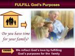 fulfill god s purposes