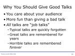 why you should give good talks