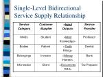single level bidirectional service supply relationship