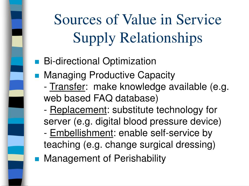 Sources of Value in Service Supply Relationships