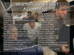 what films can we use a chronology