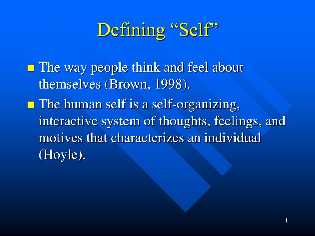 defining self l.