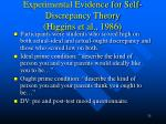 experimental evidence for self discrepancy theory higgins et al 1986