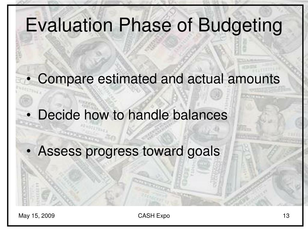 Evaluation Phase of Budgeting