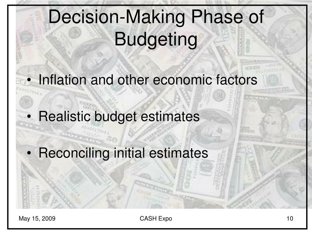 Decision-Making Phase of Budgeting