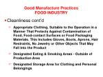 good manufacture practices food industry8