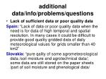 additional data info problems questions54
