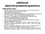 additional data info problems questions56