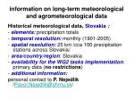 information on long term meteorological and agrometeorological data13