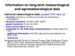 information on long term meteorological and agrometeorological data14