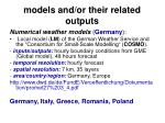 models and or their related outputs25