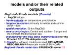 models and or their related outputs29