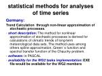 statistical methods for analyses of time series45
