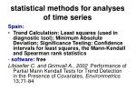 statistical methods for analyses of time series47
