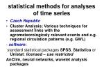 statistical methods for analyses of time series48