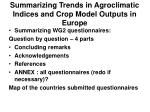 summarizing trends in agroclimatic indices and crop model outputs in europe59