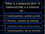 what is a balanced diet a balanced diet is a mixture of