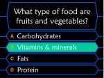 what type of food are fruits and vegetables40