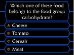 which one of these food belongs to the food group carbohydrate