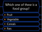 which one of these is a food group