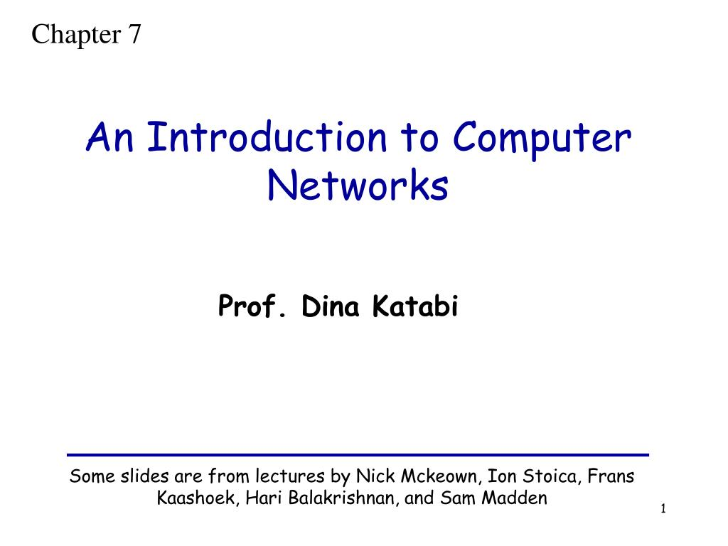 an introduction to computer networks l.