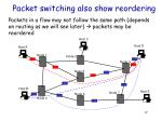 packet switching also show reordering