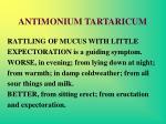 antimonium tartaricum