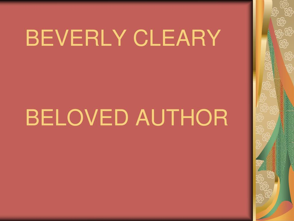 beverly cleary beloved author l.