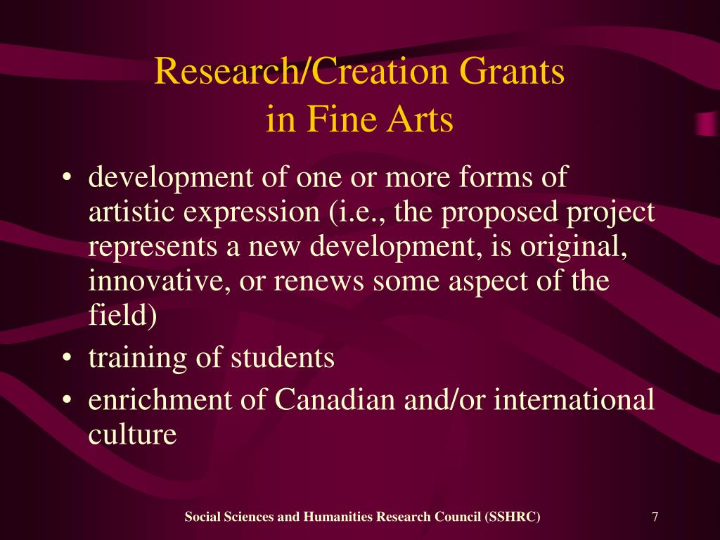 Research/Creation Grants