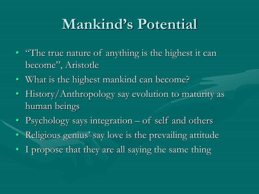 Mankind's Potential