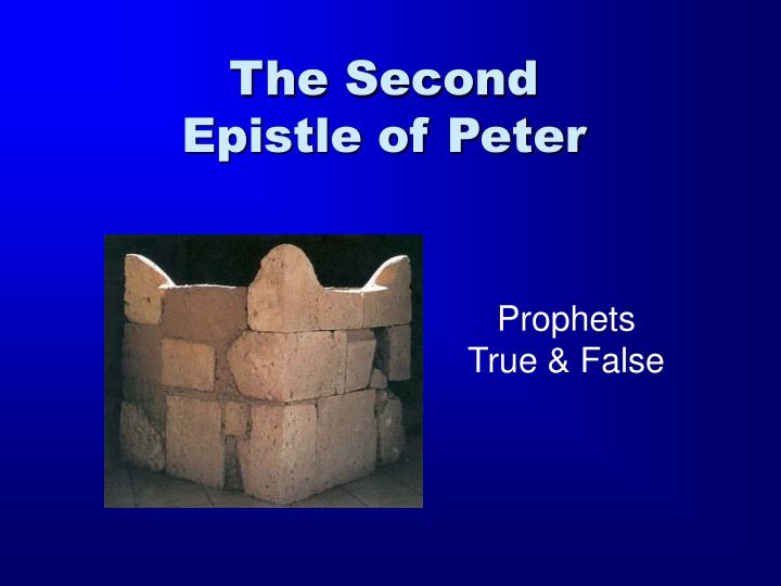 the second epistle of peter n.
