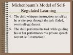 michenbaum s model of self regulated learning26