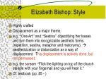 elizabeth bishop style