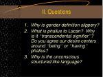 ii questions