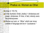phallus vs woman as other