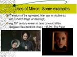 uses of mirror some examples