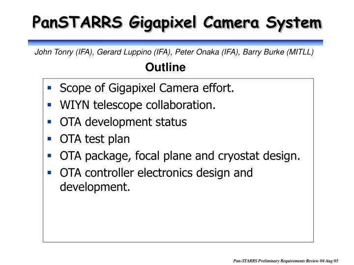 panstarrs gigapixel camera system n.