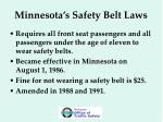 minnesota s safety belt laws