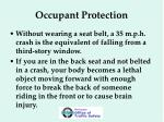 occupant protection12