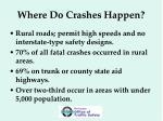 where do crashes happen
