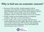 why is belt use an economic concern