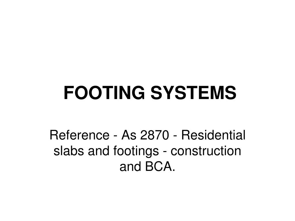 footing systems l.
